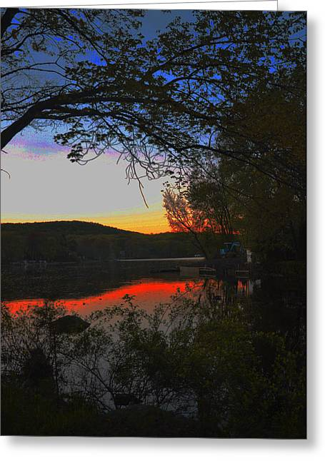 Greeting Card featuring the painting First Dark by Dottie Branchreeves