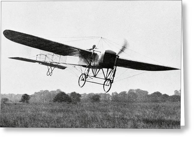 First Flight Across The English Channel Greeting Card