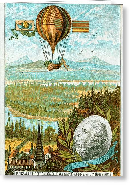First Flight In A Dirigible Greeting Card