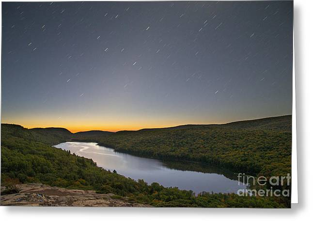 First Light At Lake Of The Clouds Greeting Card by Twenty Two North Photography
