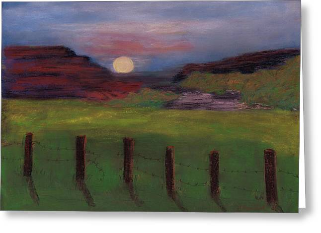 Greeting Card featuring the painting First Light by J Cheyenne Howell