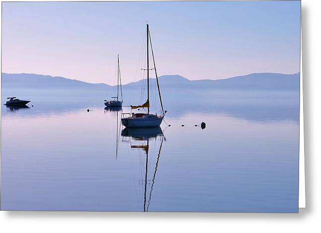 First Light Lake Tahoe  Greeting Card