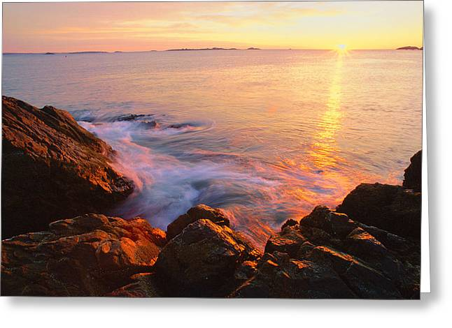 First Light Marblehead Greeting Card