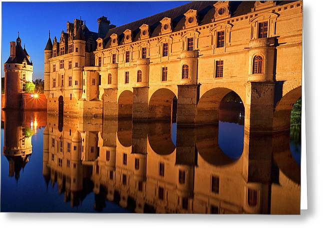 First Light Of Morning On Chateau Greeting Card