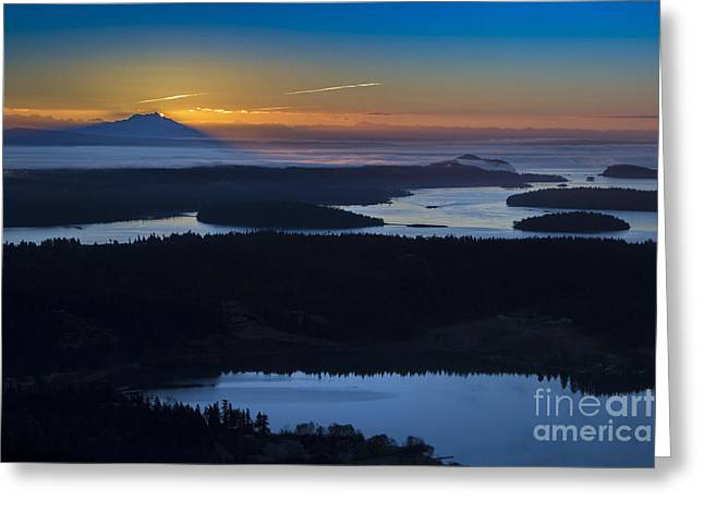 First Light Greeting Card by Sonya Lang