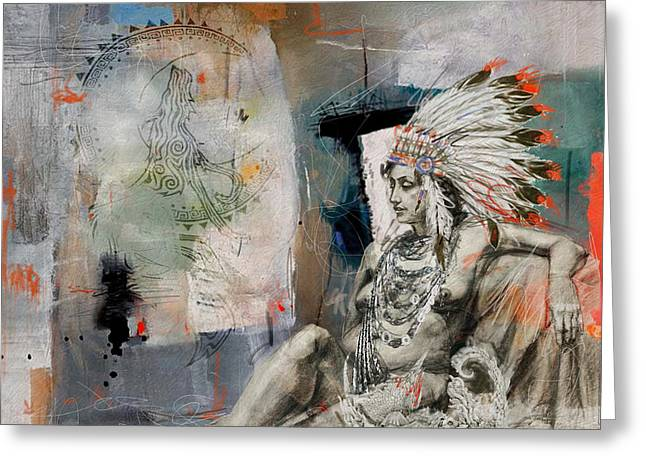 First Nations 21 Greeting Card by Corporate Art Task Force