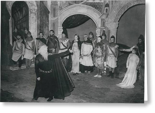 """First Night Of """"king Lear"""" Greeting Card by Retro Images Archive"""