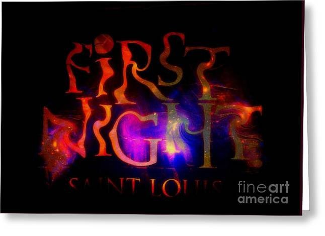 First Night Sign 2 Greeting Card
