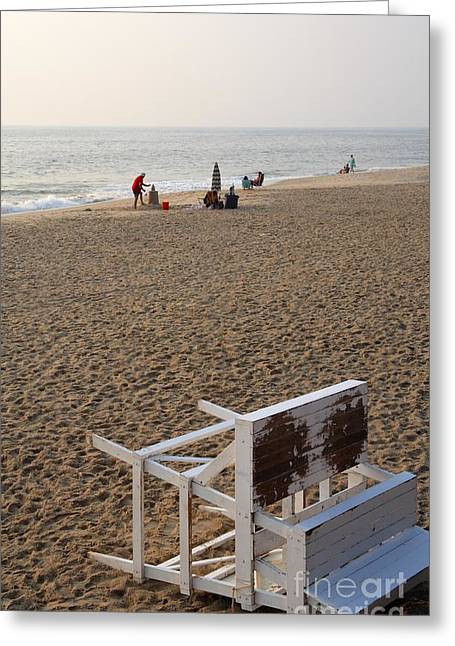 First On The Beach At Bethany Beach In Delaware Greeting Card