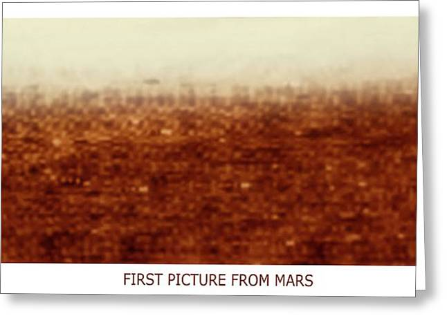 First Picture From Mars 3 Probe Greeting Card by Russian Academy Of Sciences/detlev Van Ravenswaay