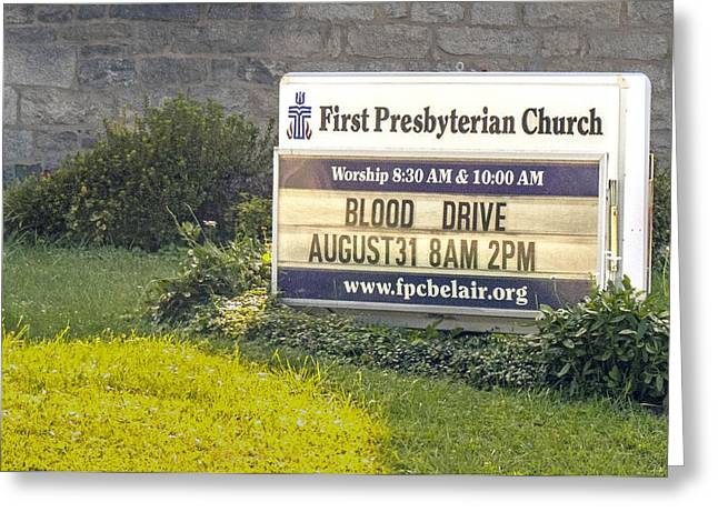 First Presbyterian Church Greeting Card