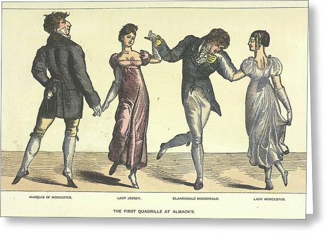 First Quadrille At Almanack's Greeting Card