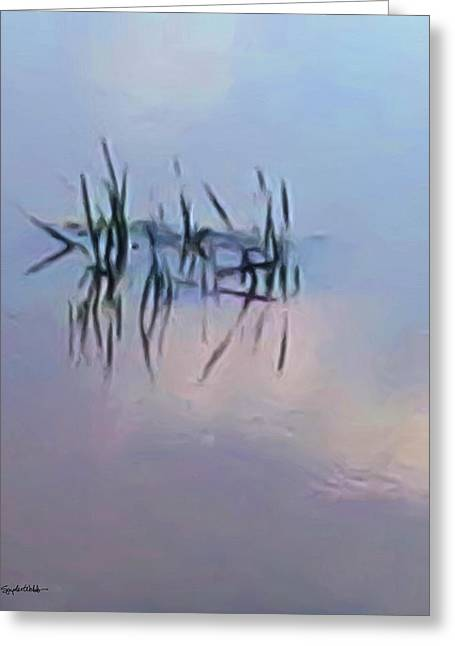First Reeds Of Spring Greeting Card by Spyder Webb