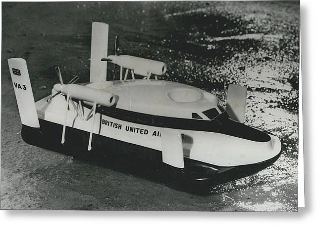 First Scheduled Hovercraft Service Planned For July Greeting Card by Retro Images Archive