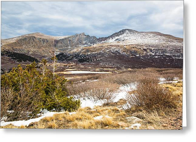 First Snow At Treeline Greeting Card by Adam Pender