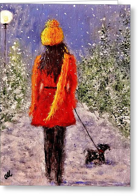 First Snow.. Greeting Card
