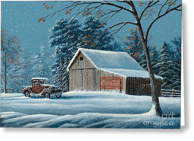 First Snow Greeting Card by Gary Adams