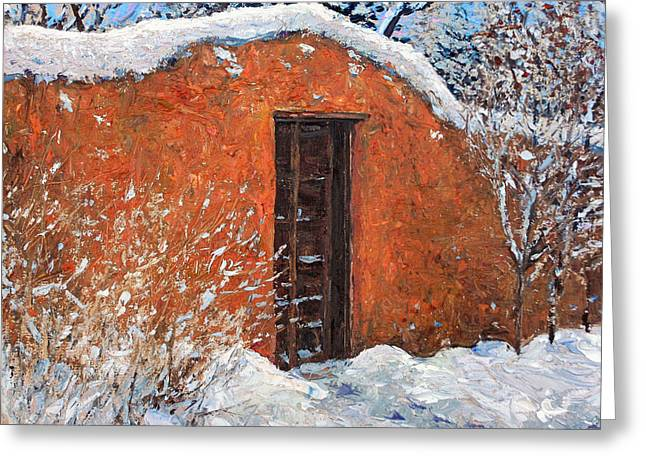 First Snowfall Greeting Card by Steven Boone