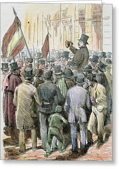 First Spanish Republic (february 11 Greeting Card by Prisma Archivo