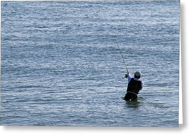 Greeting Card featuring the photograph First Striper Of The Season by Greg Graham