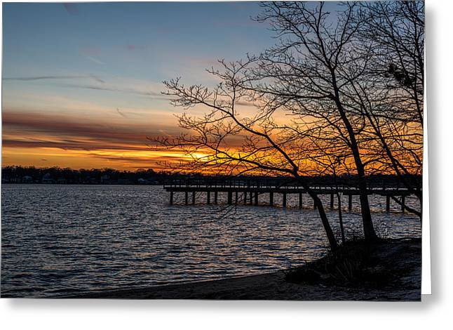 First Sunset Of The New Year Greeting Card by Terry DeLuco
