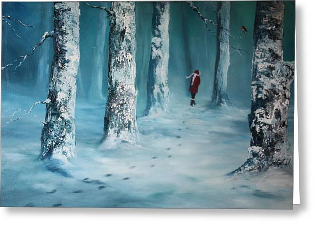 First Trodden Snows Greeting Card
