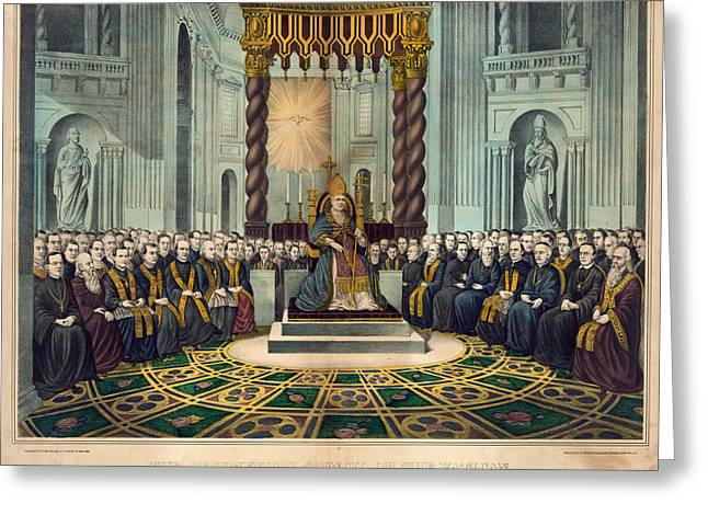 First Vatican Council, 1869 Greeting Card