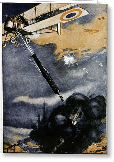 First World War Bombing Greeting Card