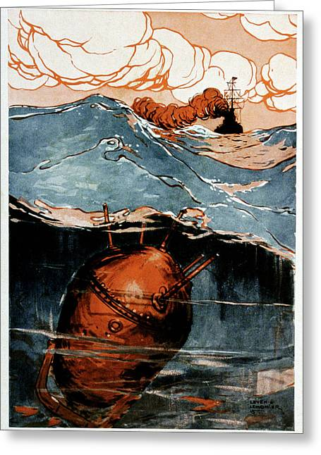First World War Naval Mine Greeting Card by Cci Archives