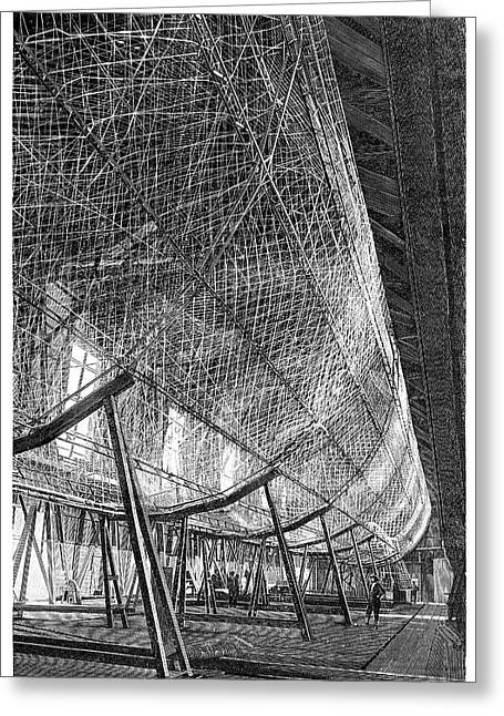 First Zeppelin Under Construction Greeting Card by Science Photo Library