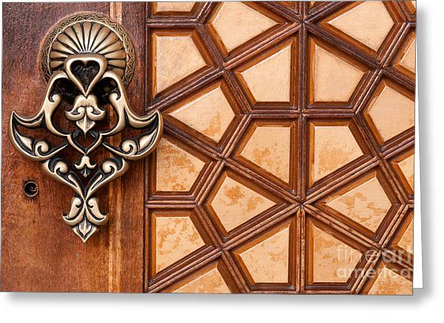 Firuz Aga Mosque Door 03 Greeting Card