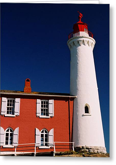 Fisgard Lighthouse Greeting Card by Michele Wright