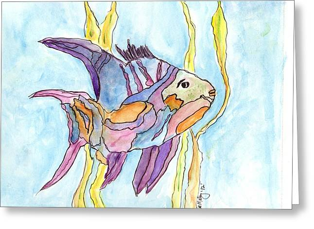 Fish 1 Greeting Card by Diane Maley