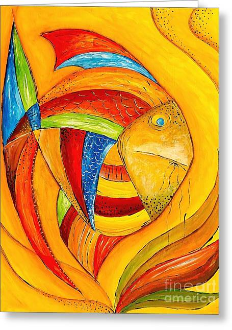 Fish 428-08-13 Marucii Greeting Card