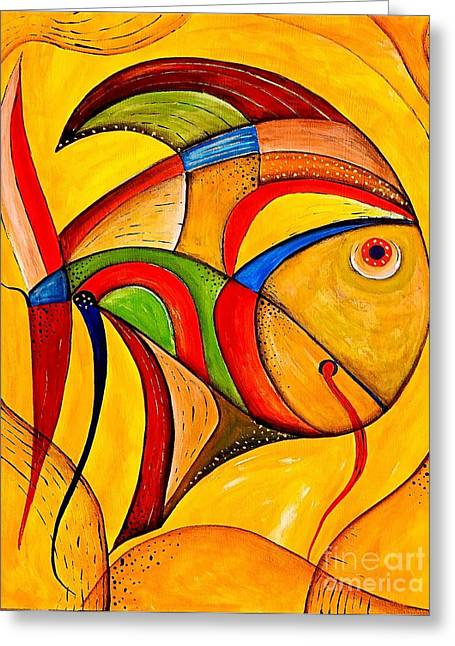 Fish 534-11-13 Marucii Greeting Card