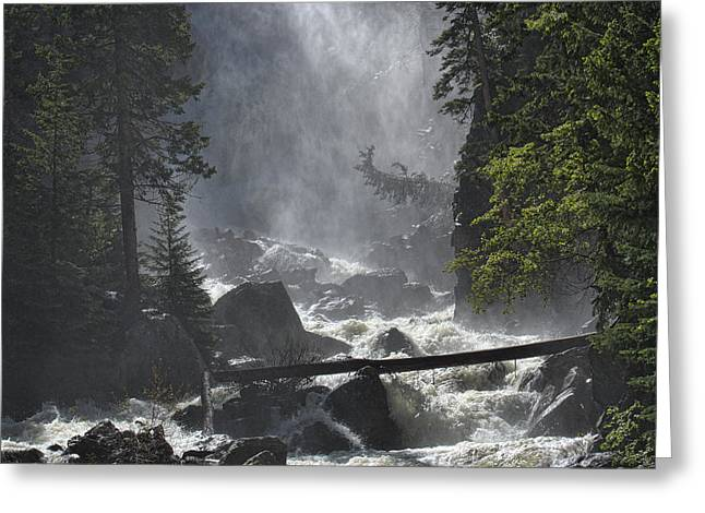 Greeting Card featuring the photograph Fish Creek Mist by Don Schwartz