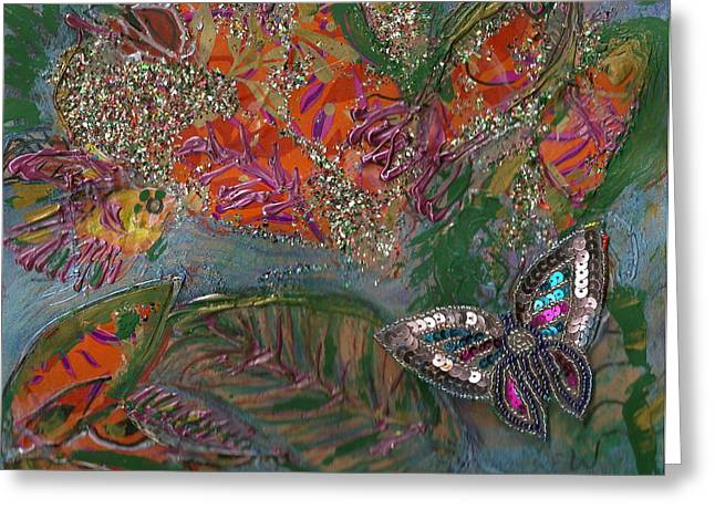 Fish Dream Of Flying Butterfly Dreams Of Swimming Greeting Card by Anne-Elizabeth Whiteway