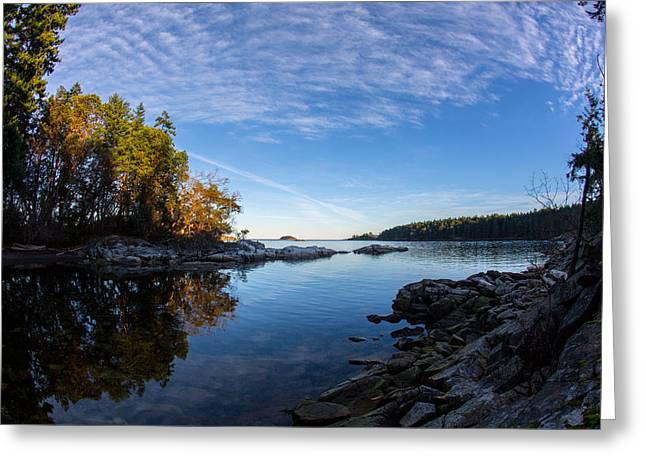 Fish Eye View Greeting Card by Randy Hall