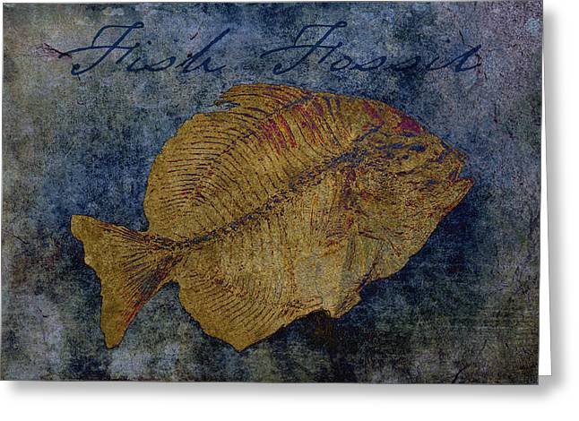 Fish Fossil Greeting Card