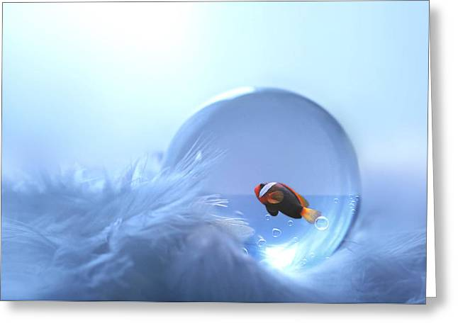 Fish In Glass Greeting Card
