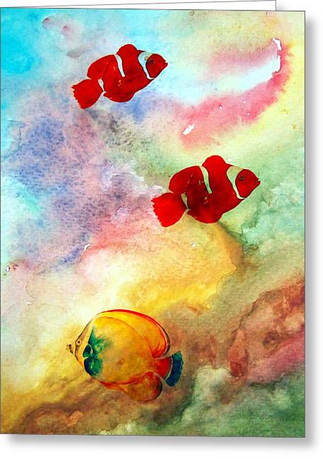 Greeting Card featuring the photograph Fish In The Sea by Athala Carole Bruckner