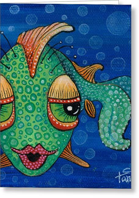 Fish Lips Greeting Card