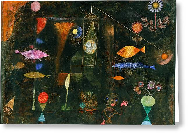 Fish Magic Greeting Card by Paul Klee