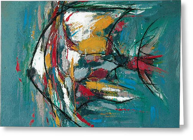 Fish Morden Art Painting - 3 Greeting Card