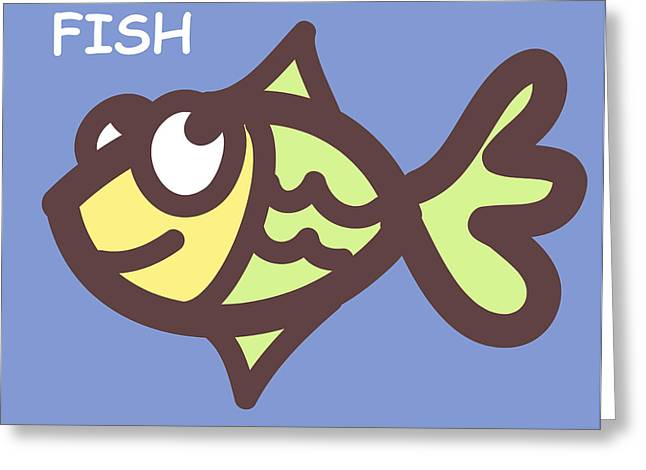 Fish Greeting Card by Nursery Art