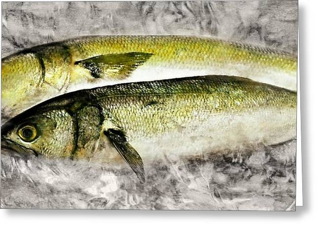 Fish On Ice Greeting Card