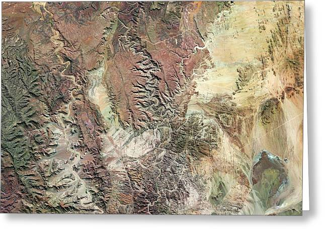 Fish River Canyon Greeting Card by Us Geological Survey