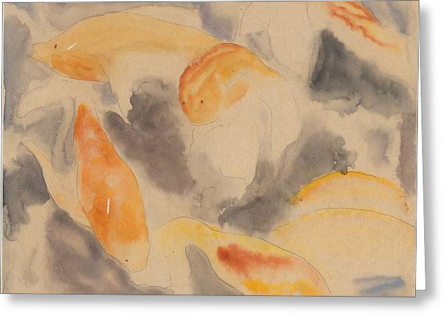 Fish Series, No. 4 Greeting Card by Charles Demuth