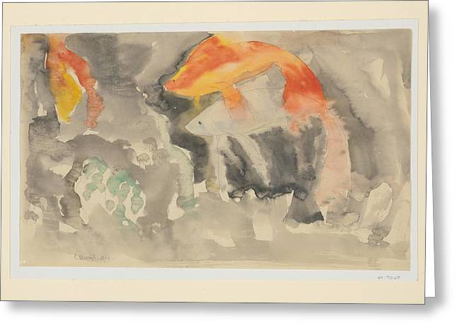 Fish Series, No. 5 Greeting Card by Charles Demuth