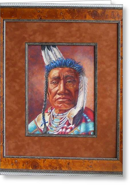 showing the frame on Fish Shows Native Am. Indian Greeting Card